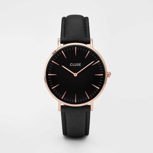 Image: CLUSE La Bohème Rose Gold Black/Black CL18001 - Montre