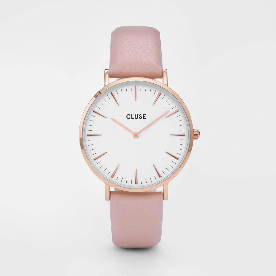 CLUSE La Bohème Rose Gold White/Pink CL18014 - Montre