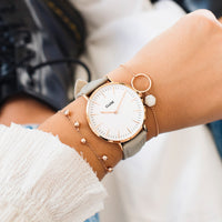 CLUSE 18 mm Strap Grey/Rose Gold CLS019 - Bracelet-montre au poignet