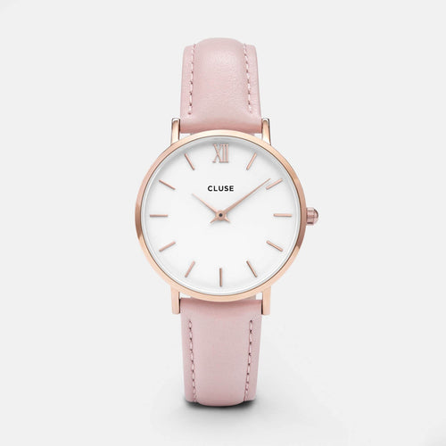 Image: CLUSE Minuit Rose Gold White/Pink CL30001 - Montre