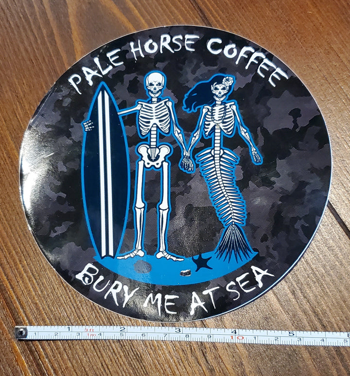Large Bury Me At Sea Sticker