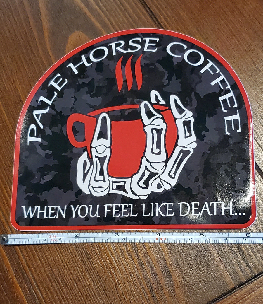 Large Pale Horse Sticker