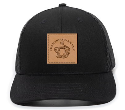 Pale Horse Trucker Hat with Leather Logo Patch