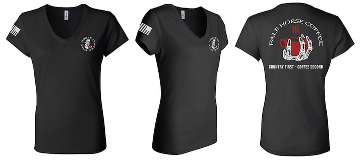 The Official Pale Horse Coffee Women's V-Neck Tee - 3.0