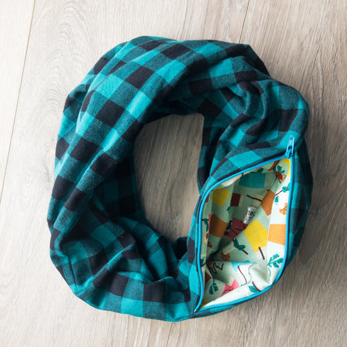 Infinity Pocket Scarf | Aquastone