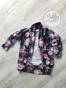 Blush Floral Cocoon Cardigan