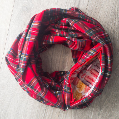 Infinity Pocket Scarf | Red Currant