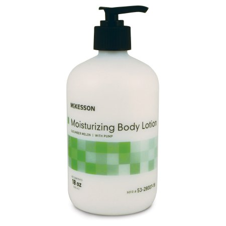 Hand and Body Moisturizer McKesson 18 oz. Pump Bottle Cucumber Melon Scent Lotion