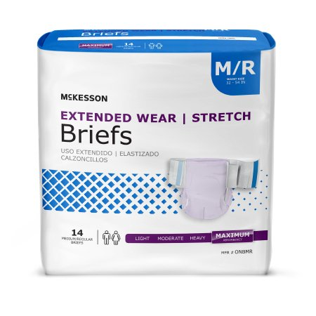 Adult Incontinence Brief Extended Wear Disposable Heavy Absorbency