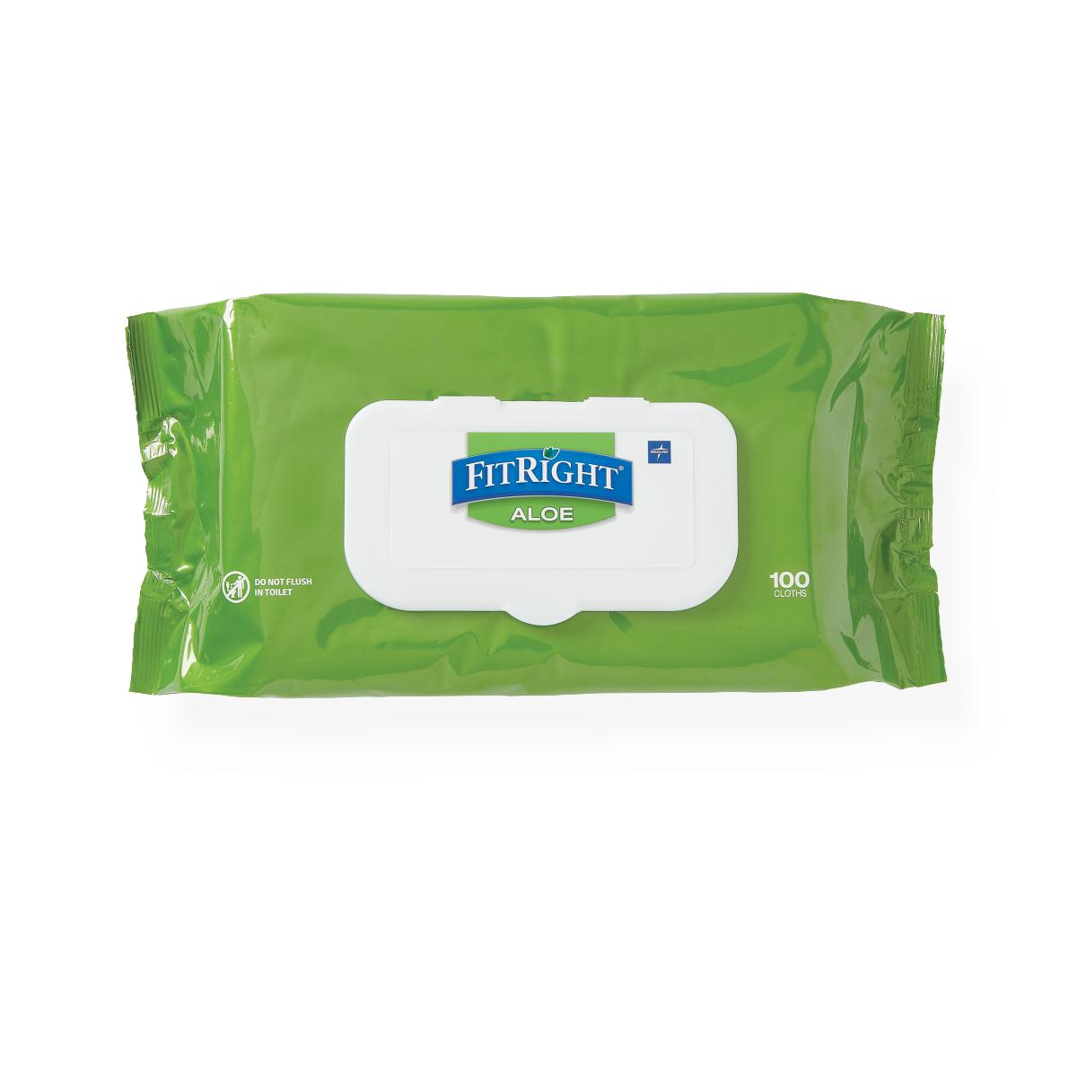 FitRight Aloe Personal Cleansing Wipes