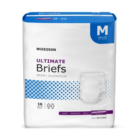 Adult Incontinent Brief Tab Closure Maximum Heavy Absorbency Disposable