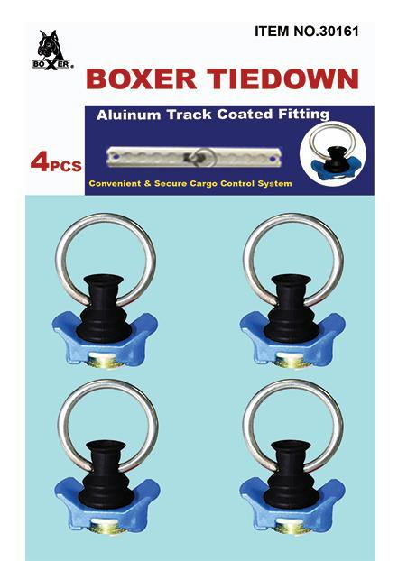 Aluminum Track Fitting with Coated Round Ring