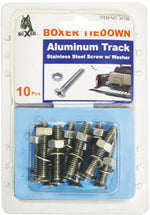 10 Pieces of Aluminum Track Stainless Steel Screws, Nuts, and Washer