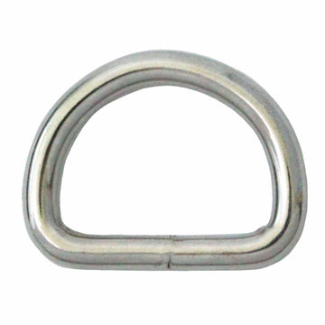 10 Pieces of Nickel Plated D Rings