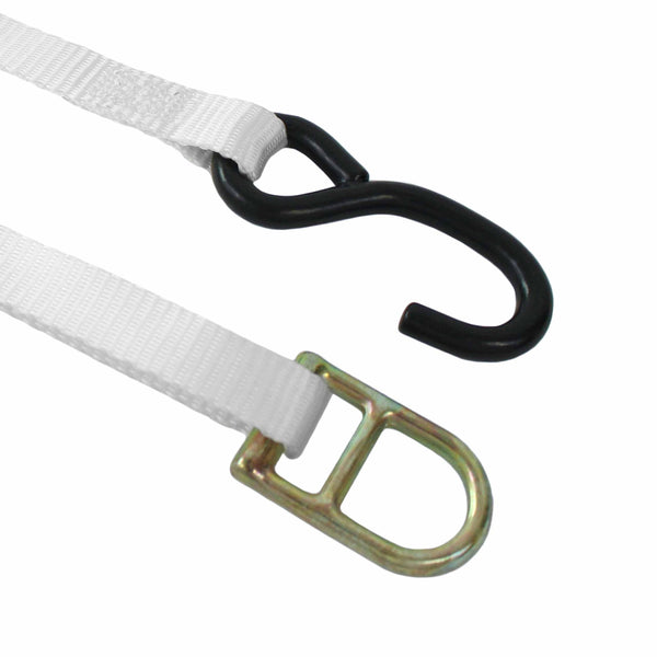 1 Inch Ratchet Tie Down with Double D Ring and S Hook - Boxer Tools