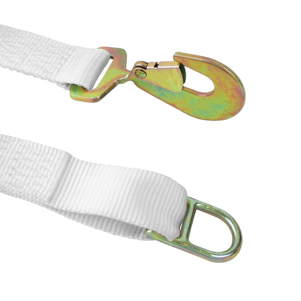 2 inch Ratchet Tie Down with Double D Ring and Twist Snap Hook