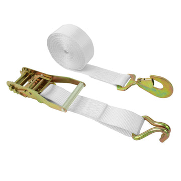 2 Inch Ratchet Tie Down with Twin J Hook and Twist Snap Hook