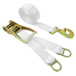 2 Inch Ratchet Tie Down with Twist Snap Hook and Double D Rings