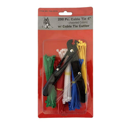 200 Piece Cable Ties with Cable Tie Cutter