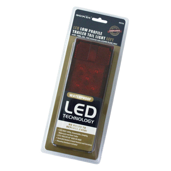 Replacement LED Low Profile Trailer Tail Light, Driver Side