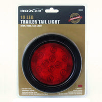 10 LED 4 Inch Trailer Tail Light in Red - Boxer Tools