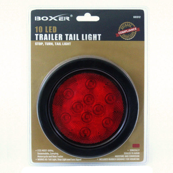 10 LED 4 Inch Trailer Tail Light in Red