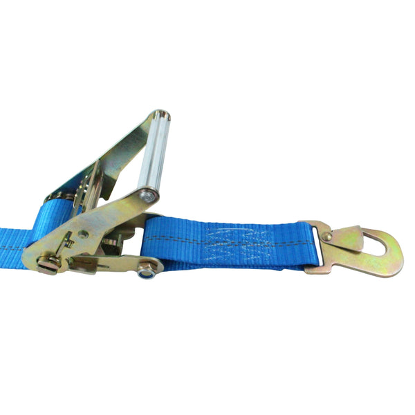 Car Tie Down with Flat Snap Hooks and Adjustable Axle Strap