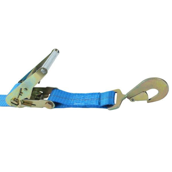 Car Tie Down with Twist Snap Hooks and Adjustable Axle Strap - Boxer Tools