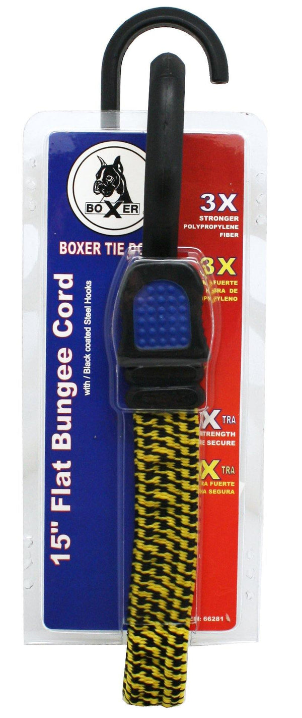Flat Elastic Cord with Steel Core Hooks - Boxer Tools