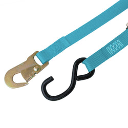 Cam Buckle Tie Down with S Hook and Snap Hook