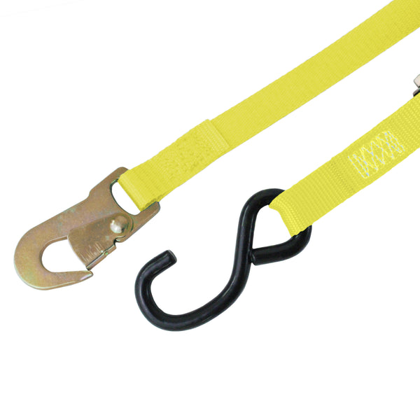 Ratchet Tie Down with S Hook and Snap Hook