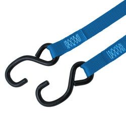 Cam Buckle Tie Down with S Hooks