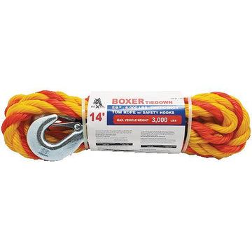 14 Feet Braided Tow Rope with Safety Hook