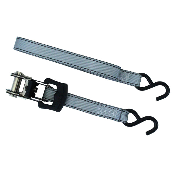 2 Pieces of Ratchet Tie Down with S Hooks