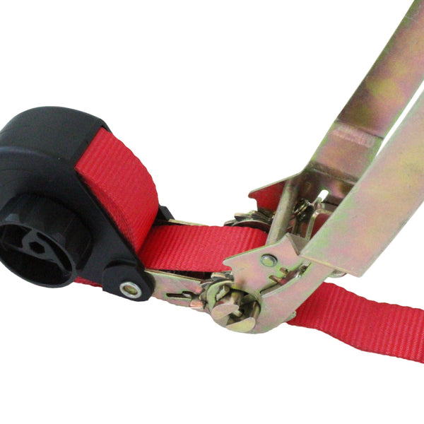 Manual Retractable Ratchet Tie Down with S Hooks