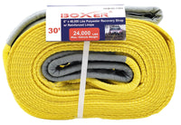 6 Inch By 30 Feet Recovery Strap with Reinforced Loops
