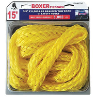15 Feet Braided Tow Rope with Safety Hooks
