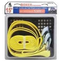 1-3/4 Inch Tow Strap with Safety Hooks - Boxer Tools