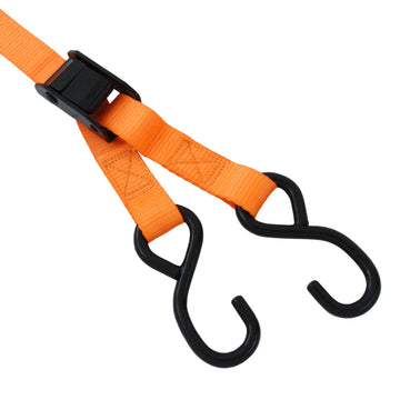 Ratchet Tie Down with S Hook and Cam Buckle Tie Down with S Hooks