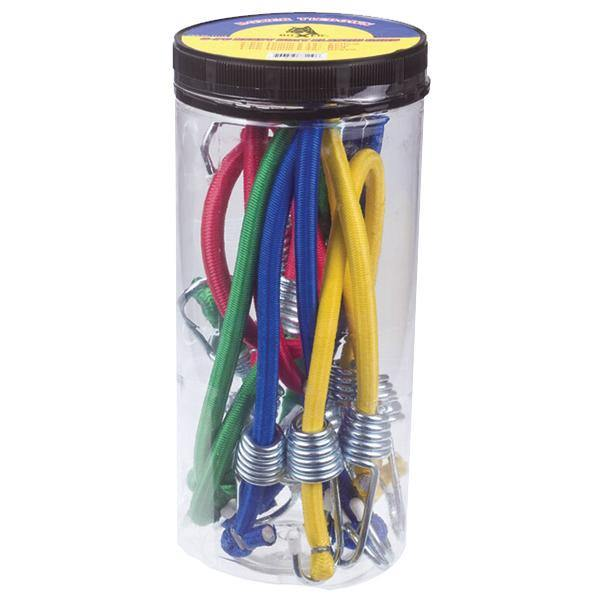 Elastic Cords with Coated Steel Hooks