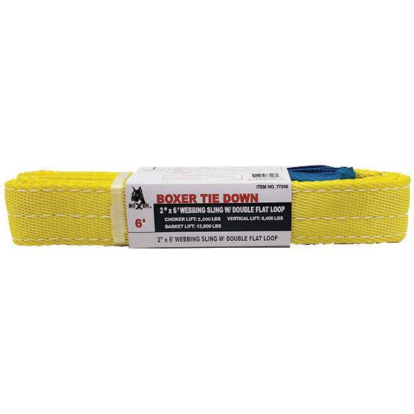 6 Feet Polyester Webbing Sling with Double Flat Loops - Boxer Tools