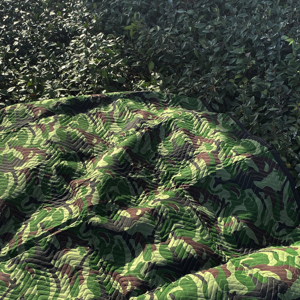 Camouflage Protection Pad - 72 Inch by 80 Inch