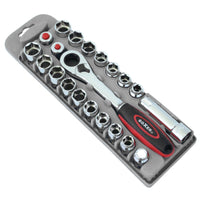 21 Pieces Professional Ratchet and Socket Set - Boxer Tools