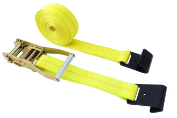 10 Pieces 2 Inch Webbing Ratchet Straps with Flat Hooks