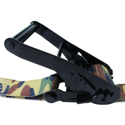 2 Inch Camouflage Webbing Ratchet Assembly with Twin J Hooks