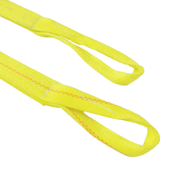 2 inch by 27 feet ratchet strap with loop ends in yellow polyester webbing