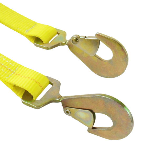 2 Inch Webbing Ratchet Assembly with Twist Snap Hooks