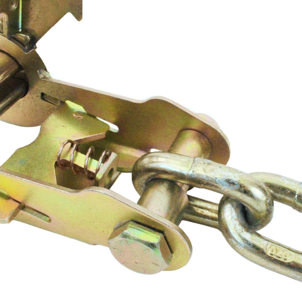 Double Locking Ratchet with Chain and Clevis Grab Hook