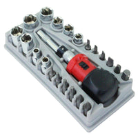 SAE Stubby Ratchet Bits Sockets Screwdriver Set