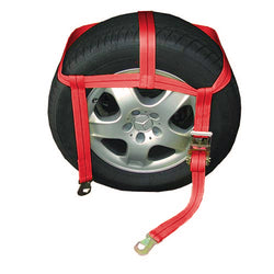 Tire Holder with Ratchet and Flat Snap Hooks